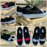 Sepatu Vans Slip On Metallica Black PREMIUM Slop Metalica Hitam Shoes