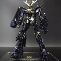 Bandai MG 1/100 Unicorn Gundam Banshee Titanium Finish