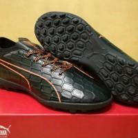 Sepatu futsal / putsal / footsal Puma evoTOUCH 3 Black Orange - TURF D