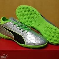 Sepatu futsal / putsal / footsal Puma evoTOUCH 3 Silver - TURF DISKON