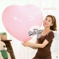 Balon Latex Hati Pink jumbo / Balon Latex Love Pink / balon jumbo size