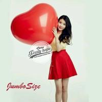 Balon Latex Hati merah jumbo / Balon Latex Love merah / jumbo size