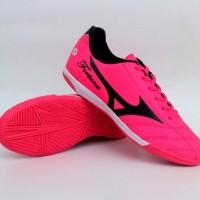 sepatu futsal dewasa mizuno fortuna pink hitam