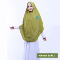 Jilbab / Khimar Segi Empat Instant Wolfis Saila by Afna size L