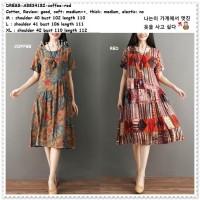 Baju Midi Mini Dress Casual Wanita Korea Import AB834182 Red Merah