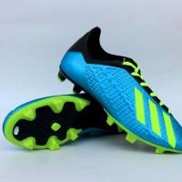 Sepatu Sepak Bola Adidas X Techfit Biru List Hijau Import