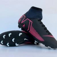 Sepatu Sepak Bola Nike Mercurial X Superfly High Hitam List Pink Impor