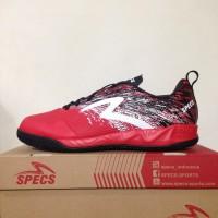 SALE Sepatu Futsal Specs Metasala Warrior Premier Red Black 400779