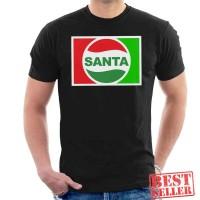 Santa Claus Christmas Pepsi Logo Baju Kaos Semua Warna
