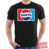Christmas Santa Pepsi Logo Baju Kaos Semua Warna