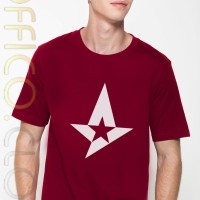 Kaos Tshirt Merah Maroon Logo Astralis ELEAGUE