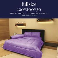 Sprei Polos Embos Size 120x200x30 warna purple - Size 120x200x20