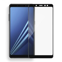 Tempered Glass Full Lem 5D Samsung A8 Plus 2018 Anti Gores Kaca Warna