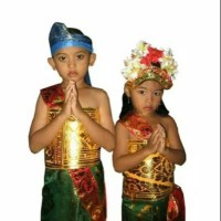 Baju Kostum Adat Bali anak ( sepasang )