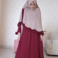Gamis Aira Maroon by Adzkia Hijab