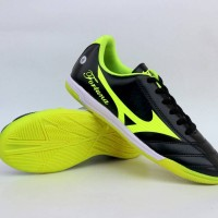 Sepatu Olahraga Futsal Mizuno Fortuna Hitam List Hijau Impor