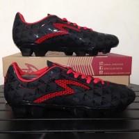 Sepatu Bola Specs Quark FG - Black, Emperor Red