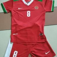 Jersey Baju Anak Kids Timnas Indonesia Home Dengan cetak nama nomor