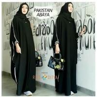 Baju Gamis Wanita Terbaru Pakistan Abaya Hitam / Baju Muslim Wanita