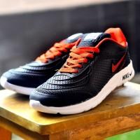 Sepatu olahraga full karet anti air pria santai casual santai nike GO - Hitam, 39