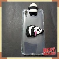 Casing Vivo V11 Pro V11pro Anti Crack Intip Doll Popsocket Panda