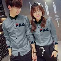Kemeja Couple Lengan Panjang Baju Couple Kemeja Fila Susan