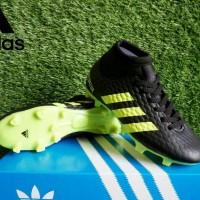 sepatu bola anak adidas predator high hitam hijau 32-38 import