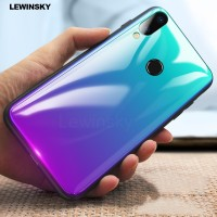 Tempered Glass Gradient Case On Honor 7A 7C 8 9 V10 Note 10 Play For H
