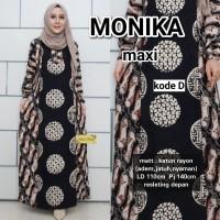 monika dress batik jumbo busana wanita,fashion,baju pesta,seragam bati