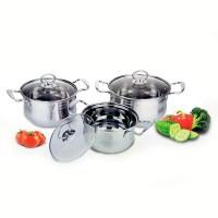 555 SA Panci cookware set CG1 & Tutup kaca - Stainless steel - Silver
