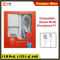Original Charger Xiaomi Casan Pocophone F1 Mi A2 Fast Charging USB C