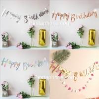 Banner Happy Birthday Latin Laser Cut
