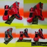 Sepatu drag Alpinestar kombinasi merah - merah abu-merah hitam dll
