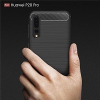 Case Huawei P20 Pro 2018 Carbon Fiber Casing Softcase Huawei P 20 Pro