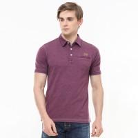 Johnwin - Slim Fit - Polo Shirt Active - Kantong Satu - Merah