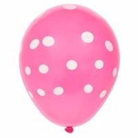 Jual Balon Polkadot- Pink   uk.12 inch (25 cm)   Murah meriah
