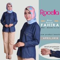Blus Denim Fahira by Rocella | Atasan Denim - Blouse Casual - L-XL