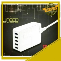 UNEED COLOKAN LISTRIK 5 PORT USB 8A SMART TRAVEL WALL CHARGER MULTI QC