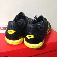 Sepatu Originals Sale Sepatu Futsal Lotto Squadra IN Black Sunshine