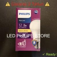 Lampu Bohlam LED Philips 12 Watt Kuning/Warm White 12W 12 W 12Watt