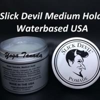 Pomade Slick Devil Waterbased Medium Hold (FREE SISIR SAKU)