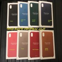 100% ORIGINAL APPLE iPhone XS MAX Leather Case (promo price) - Merah