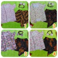 Motif Bunga Setelan Baju Batik Kebaya Kutu Baru Bayi 0-15bulan Plus He