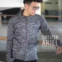 Jaket Ariel Zipper Sweater Rajut Pria Wanita All Size