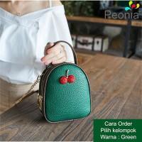 Peonia - Tas Selempang Wanita Import- Korea Style - Tas Hp- Cherry Bag