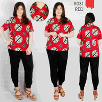 CEONGSAM - Pakaian Baju Kemeja Blouse Batik Jumbo Wanita Cina Murah