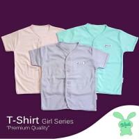 Aruchi - 3 pcs baju pendek bayi polos girl series size S M L