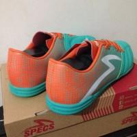 Promo Sale Sepatu Futsal Specs Equinox IN Comfrey Green Orange 400712