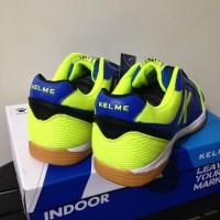 Promo Sale Sepatu Futsal Kelme K-Strong Royal Blue Lime 55787 Original