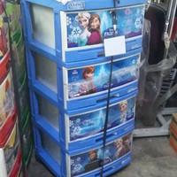 Lemari Plastik Napolly Susun 4 Frozen